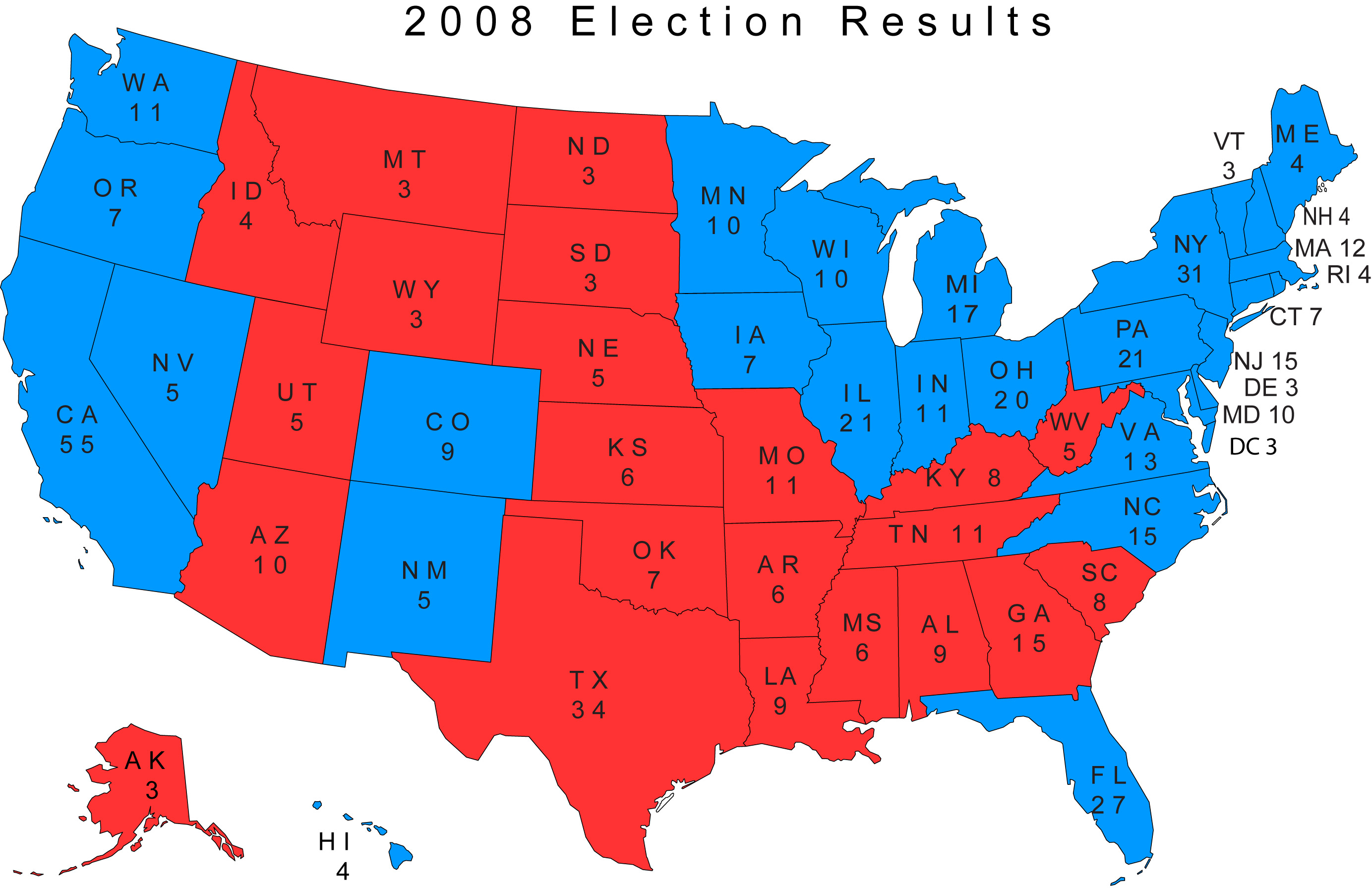 2008 election results